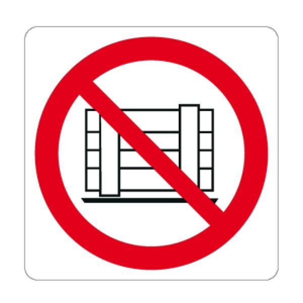 Cartello in alluminio lato mm 125 pittogramma vietato depositare materiali