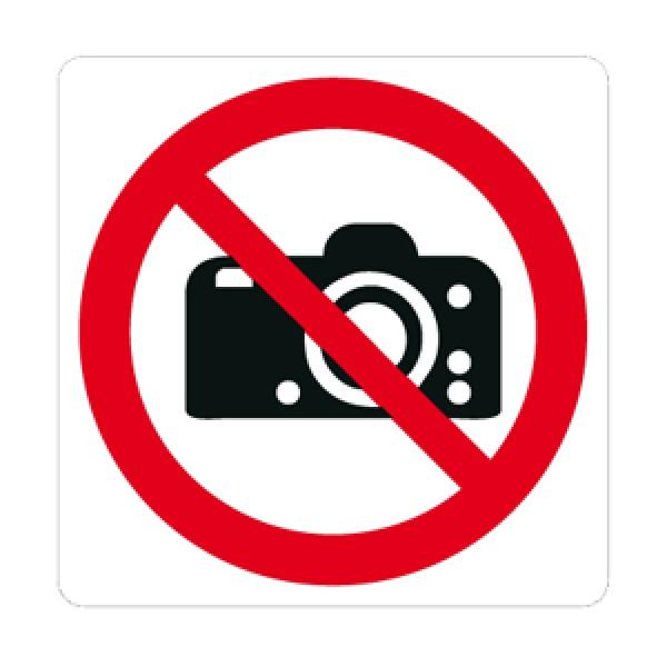 Cartello in alluminio lato mm 125 pittogramma.vietato fotografare