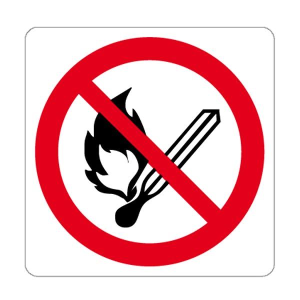 Cartello in alluminio lato mm 125 pittogramma vietato fumare e usare f.l.