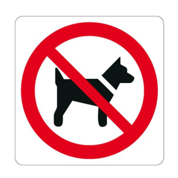 Cartello in alluminio lato mm 125 pittogramma vietato introdurre cani