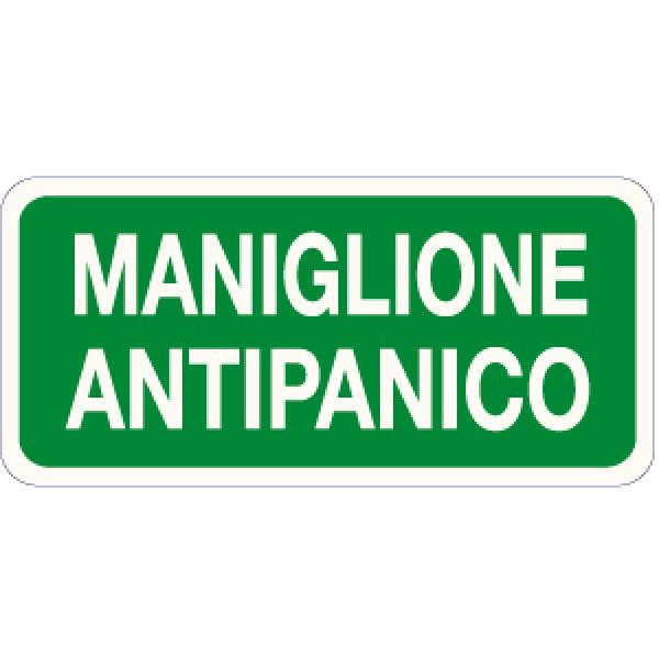Etichetta autoadesiva formato mm 220x100 maniglione antipanico