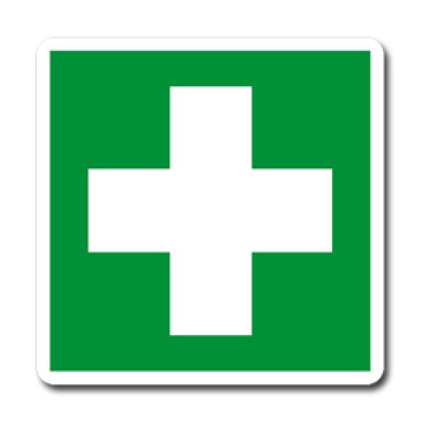 Cartello in alluminio formato mm 120x150 cassetta di medicazione