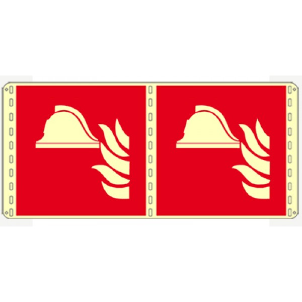 Cartello in alluminio formato mm 160x210 lumbifacciale presidio antincendio (f004lb1671e)