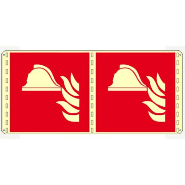 Cartello in alluminio formato mm 250x310 lumbifacciale presidio antincendio (f004lb1671b)
