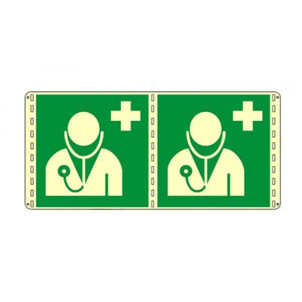 Cartello in alluminio formato mm 160x210 luminescente bifacciale dottore