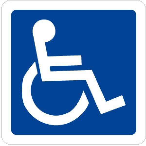 Cartello in alluminio formato mm 150 pittogramma toilette disabili (2105e)