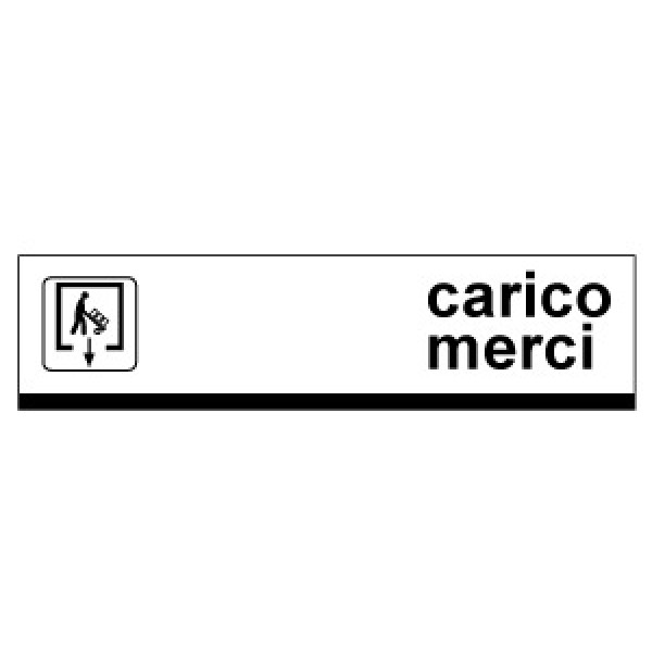 Cartello in alluminio formato mm 1000x250 carico merci fr dx