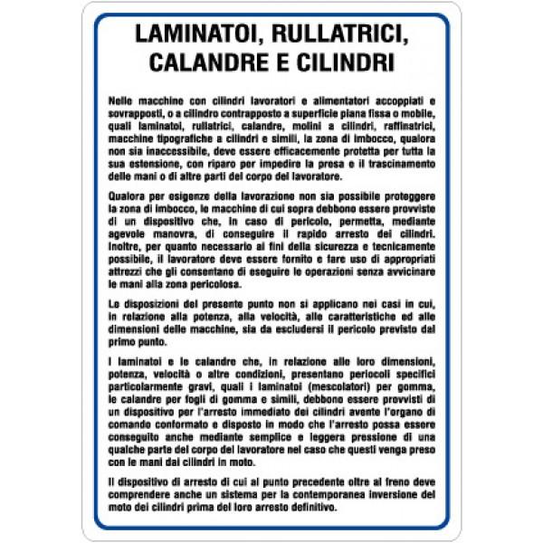 Cartello in alluminio formato mm 330x470 laminatori rullatrici calandre