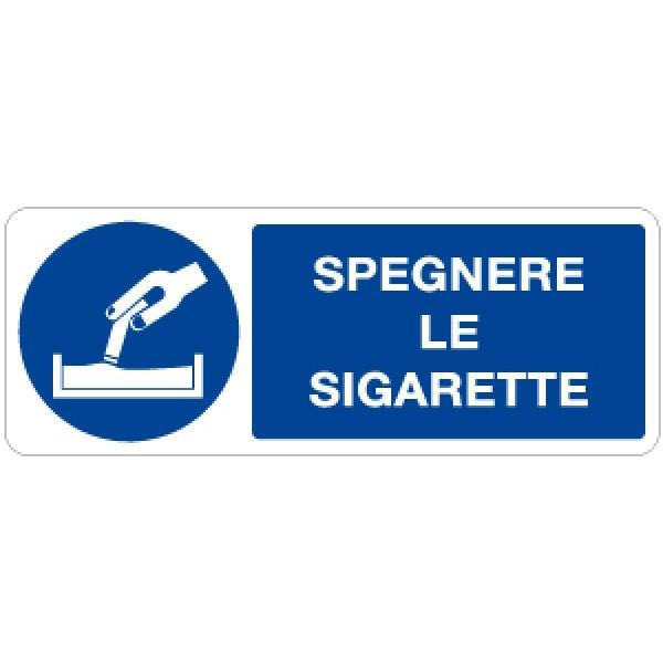 Cartello in alluminio formato mm 330x125 spegnere le sigarette