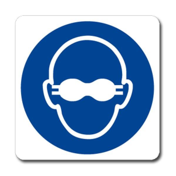 Cartello in alluminio formato mm 250x330 indoss occhiali lenti opache (m0071063m)
