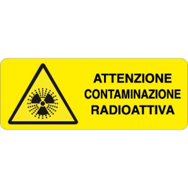 Cartello in alluminio formato mm 330x125 attenzione contaminaz radioattenzione