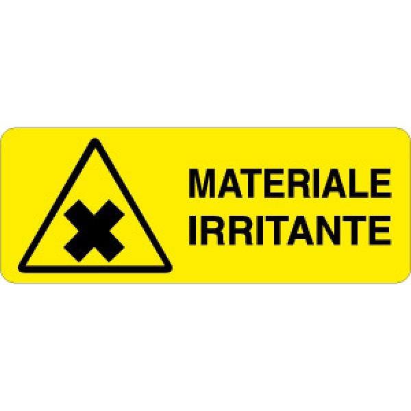 Cartello in alluminio formato mm 330x125 materiale irritante