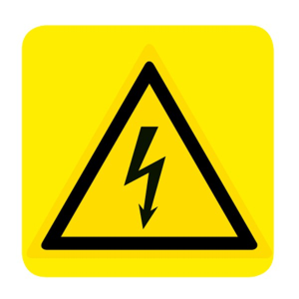 Cartello in alluminio formato mm 250x330 corrente elettrica (w012363m)