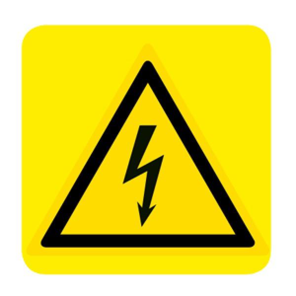 Cartello in alluminio lato mm 150 pittogramma pericolo elettricita'