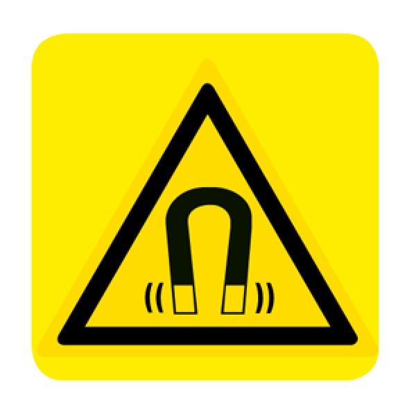 Cartello in alluminio lato mm 250 pittogramma pericolo campo magnetico (w006025m)