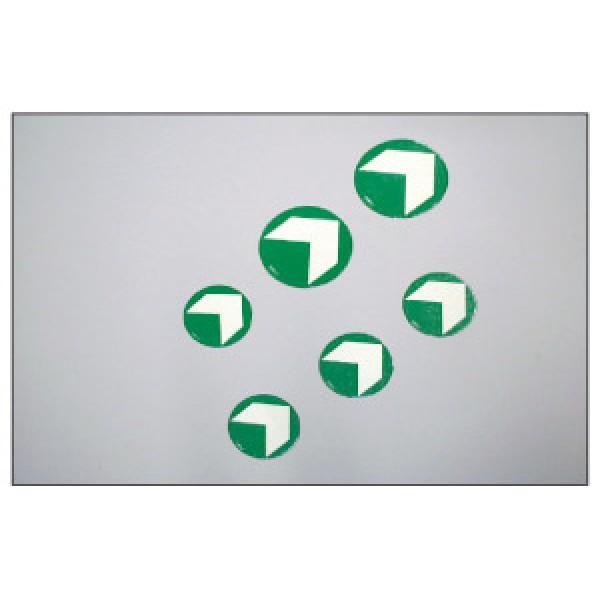 Alluminio adesivo luminescente diametro mm 125 marcatura hi per pavimentaz (hi125)