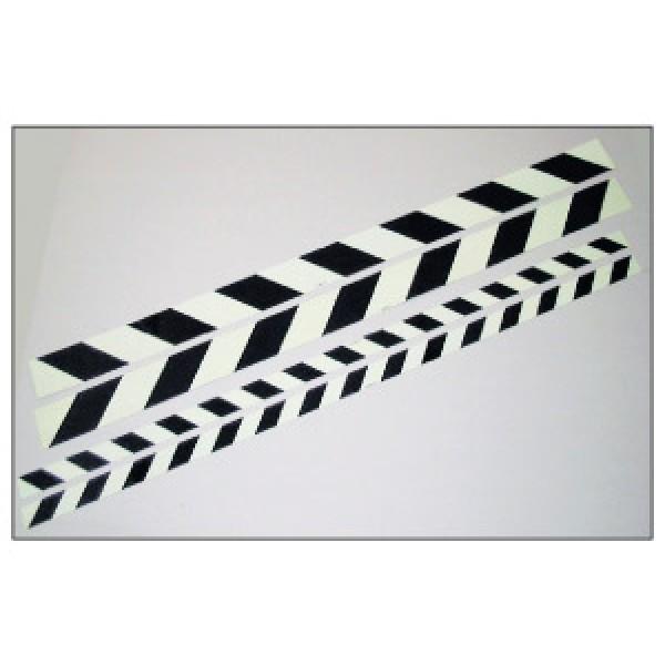 Alluminio adesivo luminescente formato mm 1000x 60 marcatura hi per ostacoli (hiost60sx)