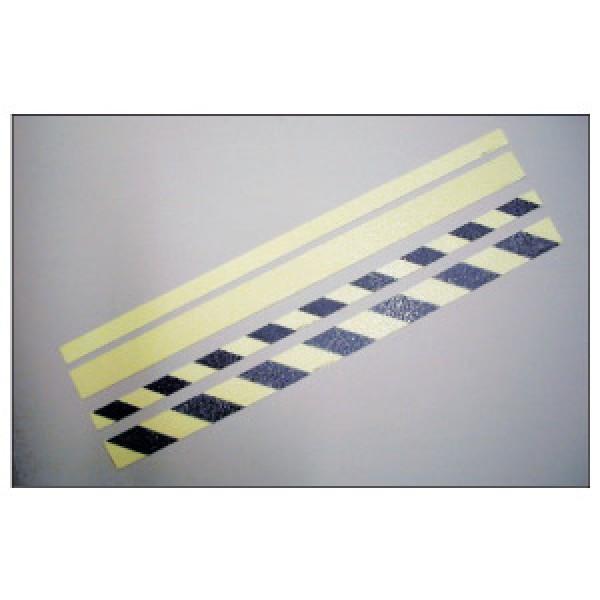 Alluminio adesivo luminescente mm 800x30 marcatura hi per pavimentaz. (bianco-nero) (hizeb30)