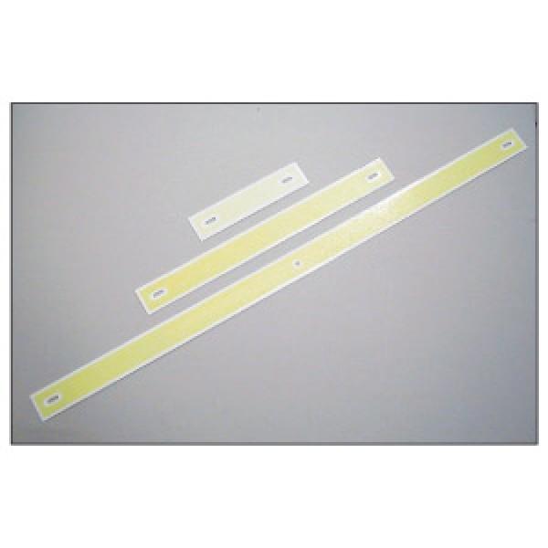 Alluminio luminescente formato mm 500x50x1,5 marcatura hi per scale antinc (hislot500)