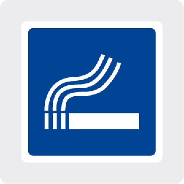 Cartello in alluminio formato mm 150 area fumatori (r2117e)