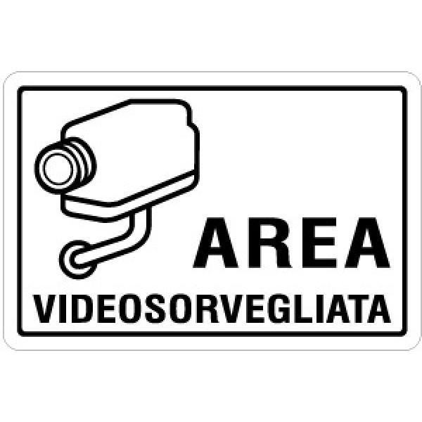 Cartello in alluminio formato mm 300x200 area videosorvegliata