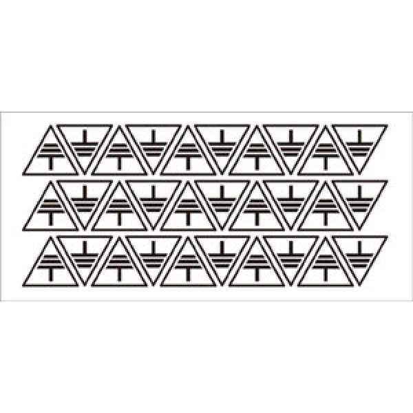 Foglio distributore formato mm 185x85 da 30 et. simbolo terra