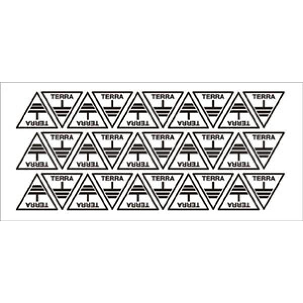 Foglio distributore formato mm 185x85 da 30 et simbolo terra e scritta