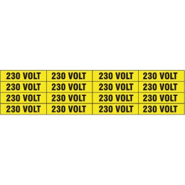 Foglio distributore formato mm 240x60 da 16 etichette 230 volt