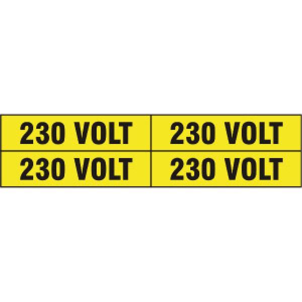 Foglio distributore formato mm 240x60 da 4 etichette 230 volt