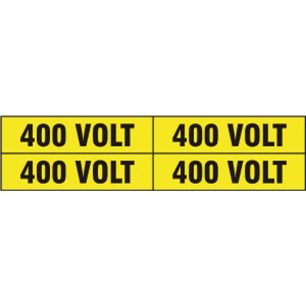Foglio distributore formato mm 240x60 da 4 etichette 400 volt