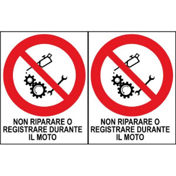 Foglio distributore formato mm 250x160 da 2 et non ripar regis durante moto